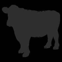 Silueta del lado de la vaca