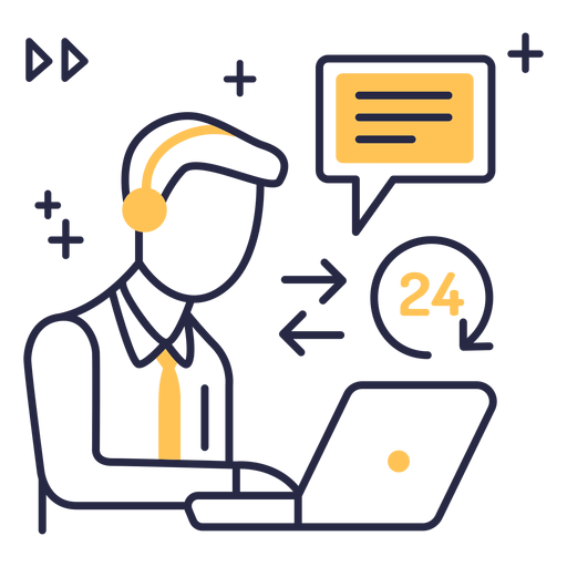 Customer service stroke icon