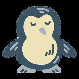 Lindo pinguim azul plano