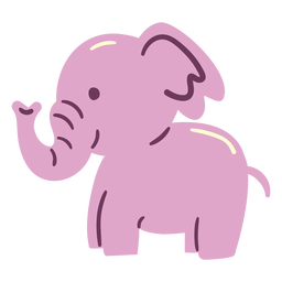 Cute happy elephant flat elephant