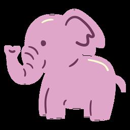 Netter glücklicher Elefant flacher Elefant
