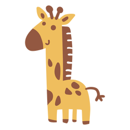 Cute happy giraffe flat