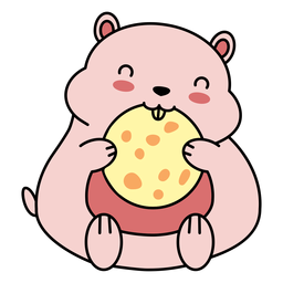 Cute happy hamster cookie flat