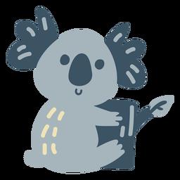 Cute happy koala flat koala