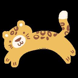 Cute happy leopard flat