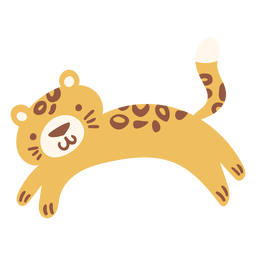 Plano lindo leopardo feliz
