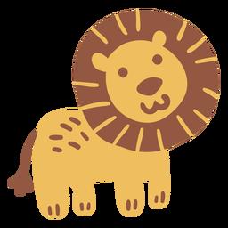 Lindo león feliz plano