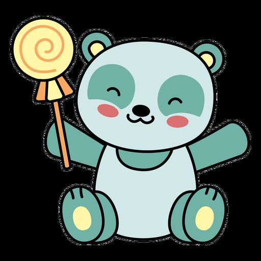 Lindo panda feliz plano dulce
