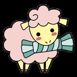 Lindo caramelo de oveja feliz plano