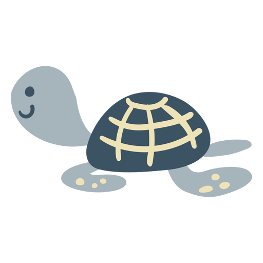 Cute happy turtle flat Transparent PNG