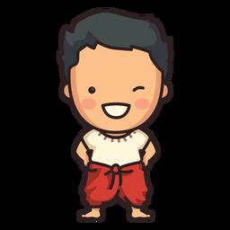 Cute thai man character