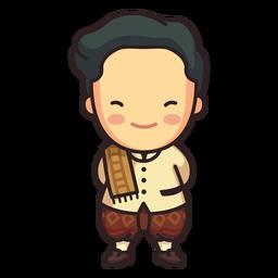 Lindo personaje de phraratchathan de hombre tailandés