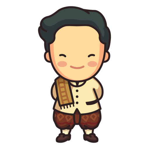 Cute thai man phraratchathan character Transparent PNG