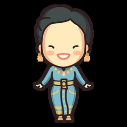 Cute thai woman boromphiman character