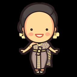 Cute thai woman chut thai character