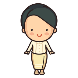 Cute thai woman ruean ton character
