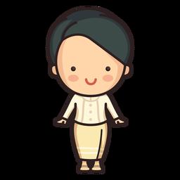 Linda mujer tailandesa ruean ton personaje