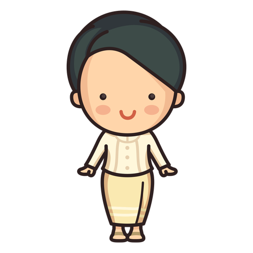 Cute thai woman ruean ton character Transparent PNG