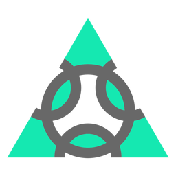 Design modern style triangle flat