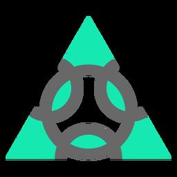 Diseño moderno estilo triángulo plano