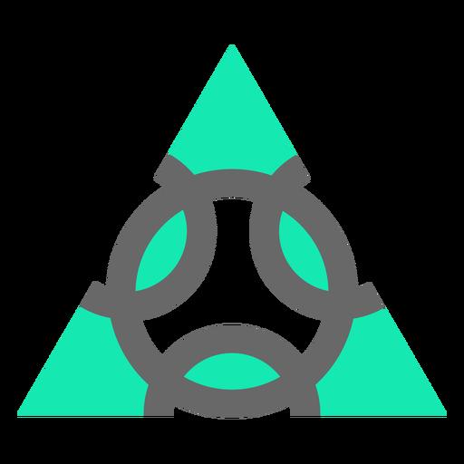 Diseño plano de triángulo de estilo moderno