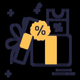 Discount gift stroke icon