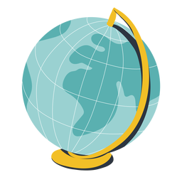 Globo terráqueo ilustración globo