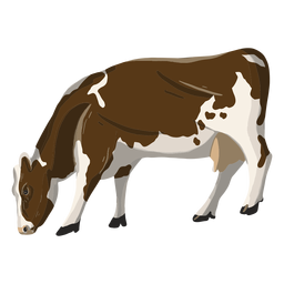 Eating cow illustration