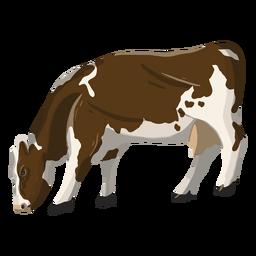 Ilustración de vaca comiendo