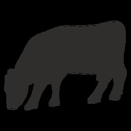 Comendo a silhueta de vaca