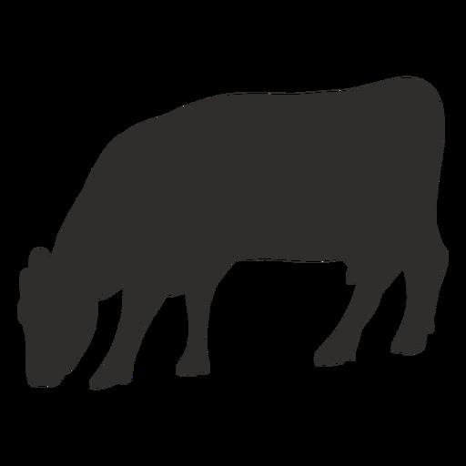 Comer vaca silueta