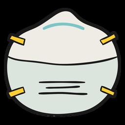 Ilustração de máscara Ffp1
