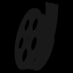 Carretel de filme preto