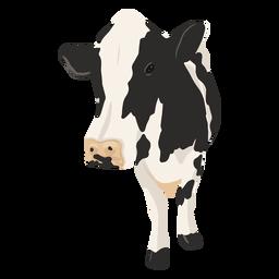 Ilustração de vaca dianteira