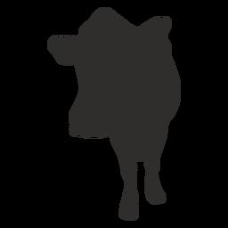 Silueta de vaca delantera