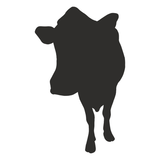 Front cow silhouette Transparent PNG