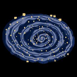 Ilustración de la vía láctea de la galaxia