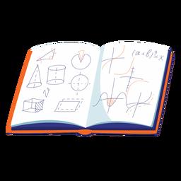 Ilustração de caderno de geometria