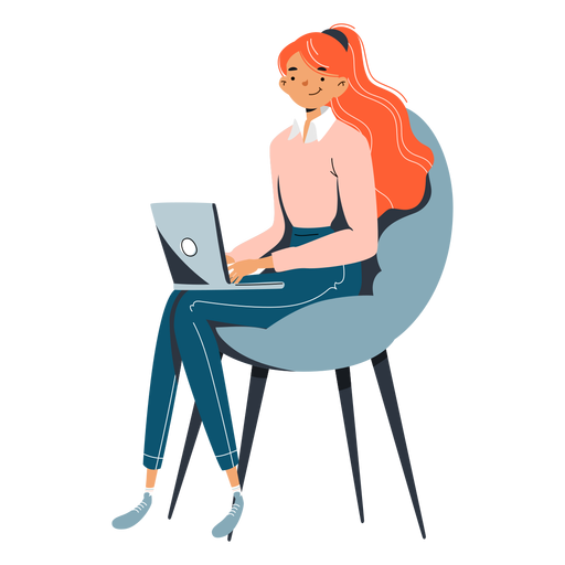 Girl with notebook character