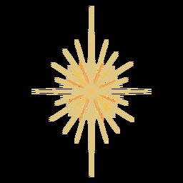 Espacio estrella brillante plano