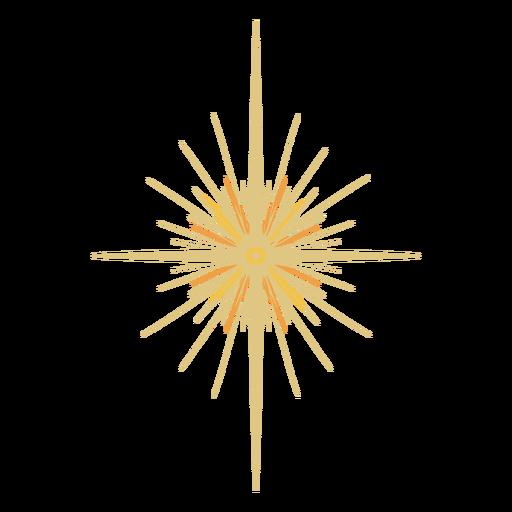 Espacio estrella brillante plano Transparent PNG