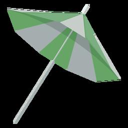 Ilustração do lado de guarda-sol verde