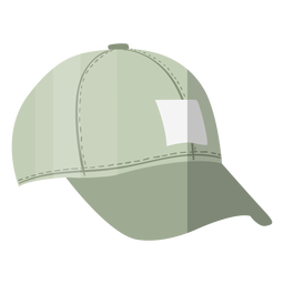 Grey cap hat illustration
