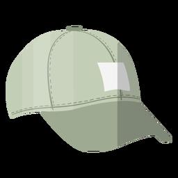 Ilustración de sombrero de gorra gris