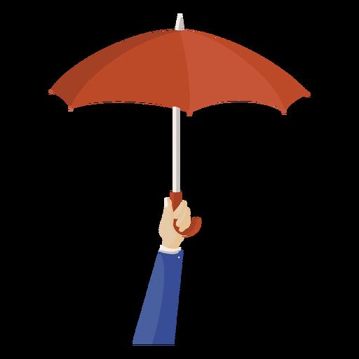 Hand red umbrella illustration