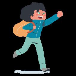 Carácter feliz estudiante chico