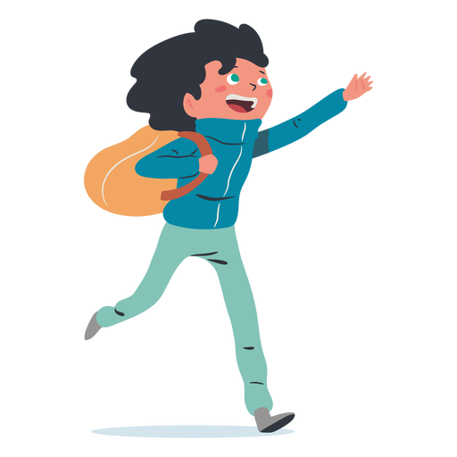 Happy boy student character Transparent PNG