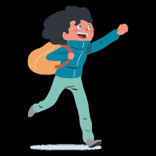 Happy boy student character
