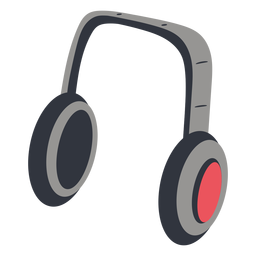 Headphones music illustration