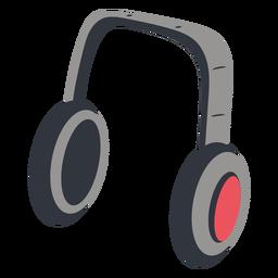Ilustração da música de fones de ouvido